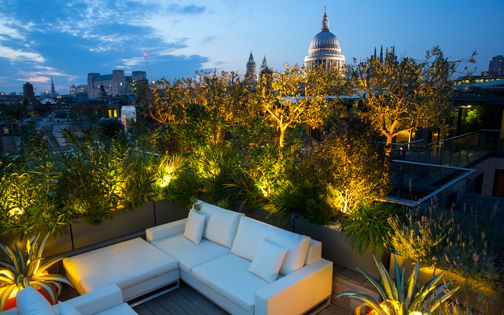 chic roof terrace london