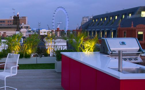 trendy roof terrace central london