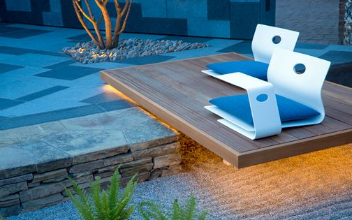 modern floating garden design details