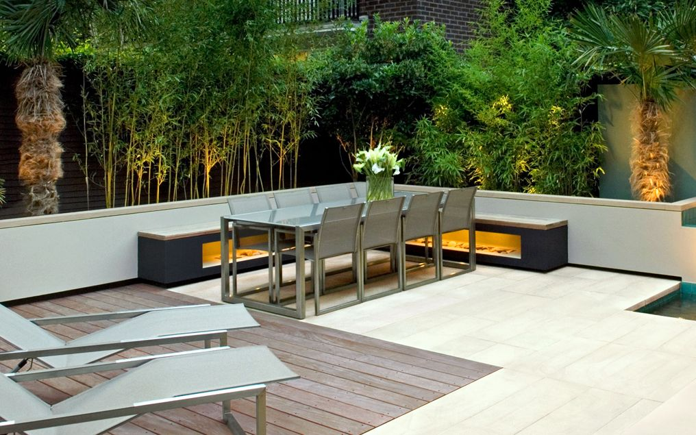 Modern outdoor seating | Mylandscapes contemporary garden ... on Backyard Patio Layout id=73286