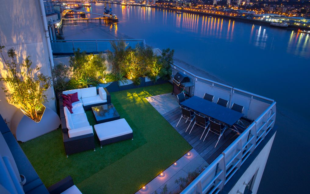 Modern Roof Terrace Lighting Designers London