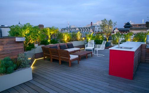 contemporary roof terrace living