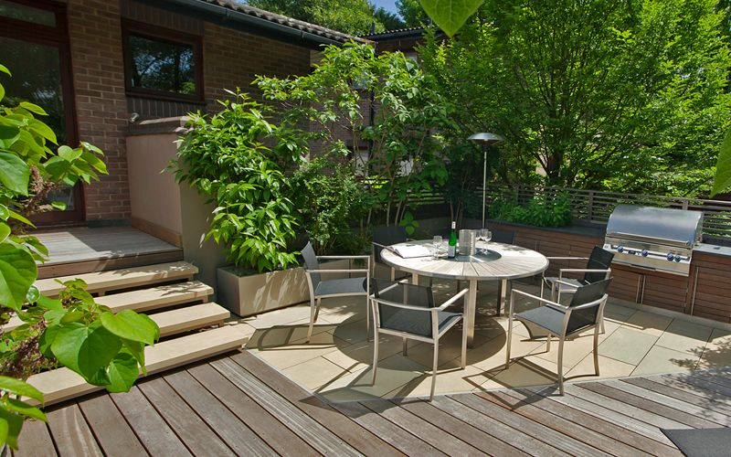 Highgate garden design | small roof garden designed by ...