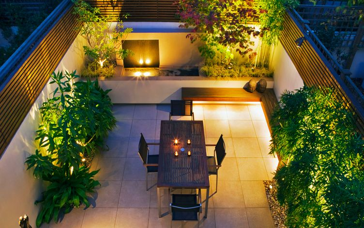 Courtyard Landscaping Contemporary Private Courtyard Garden Design