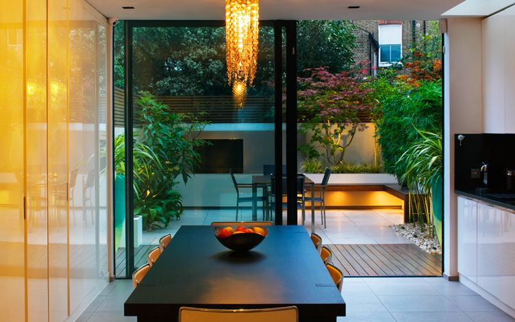 indoor outdoor courtyard garden design london