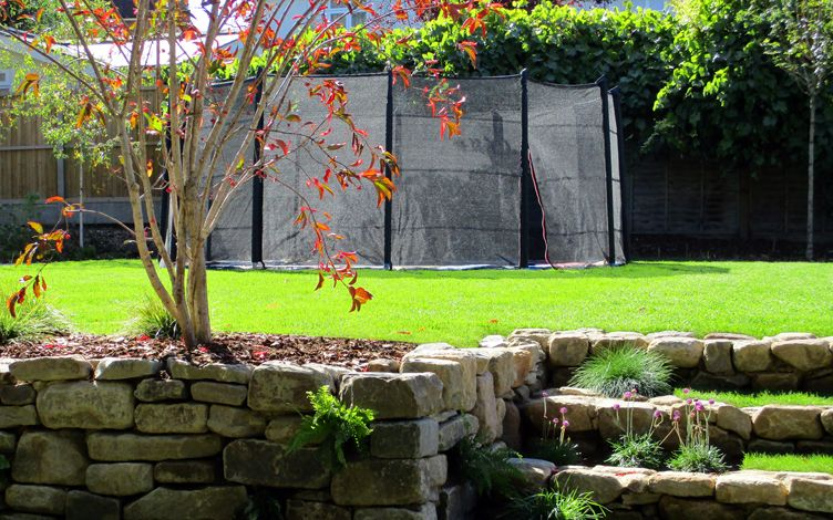 contemporary north london large landscape family garden