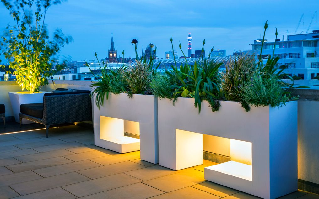 Contemporary penthouse terrace mylandscapes garden for Terrace layout