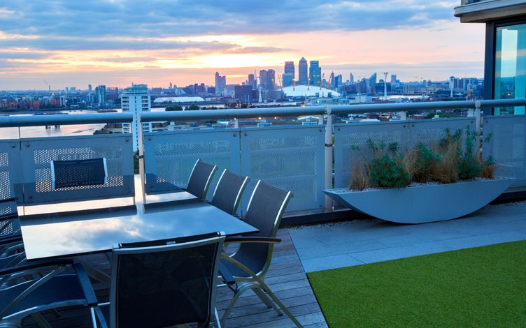 contemporary penthouse rooftop design landscaping