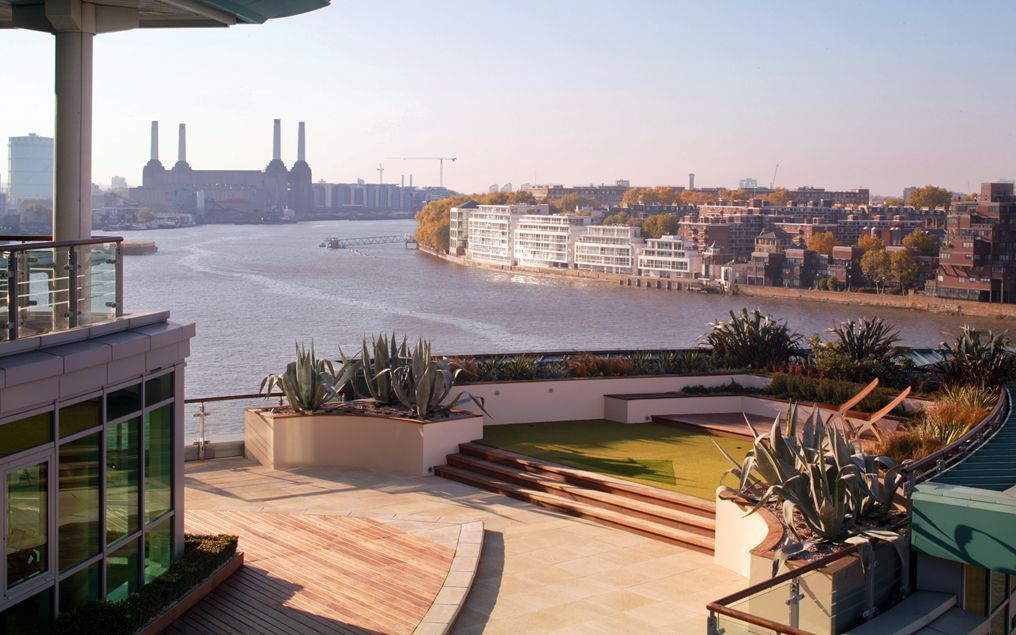 city roof garden design south london