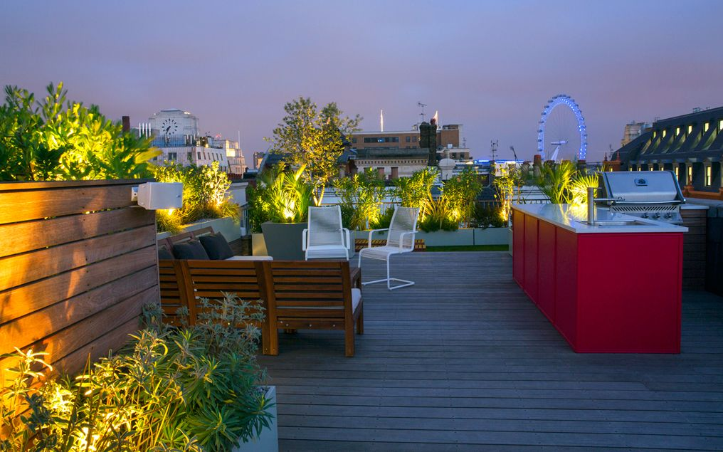 An Urban Panorama. This Expansive, Contemporary Roof Garden ...