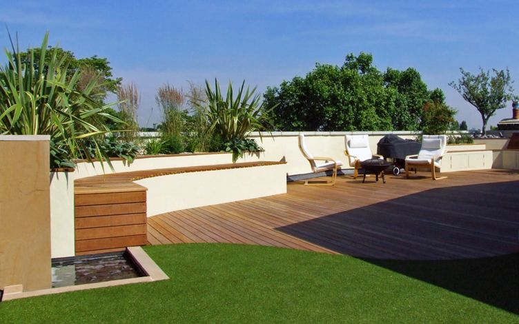 contemporary sky roof garden design london