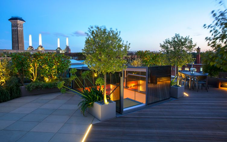 modern roof terrace london