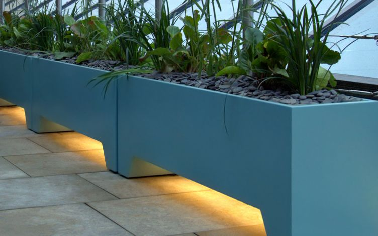 personalised roof terrace planters
