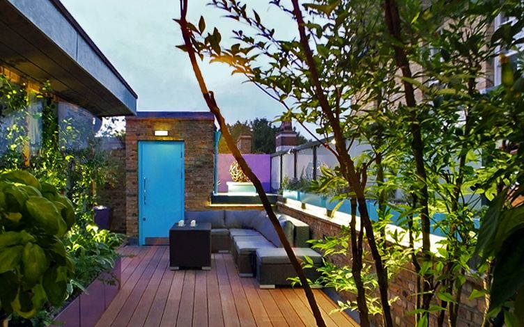contemporary london roof garden design build project professional team