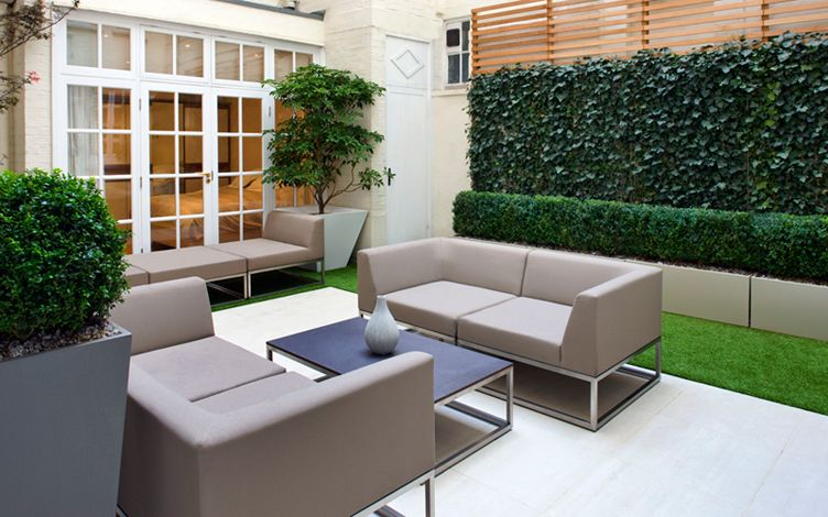 Shade garden design | Mayfair courtyard garden Mylandscapes