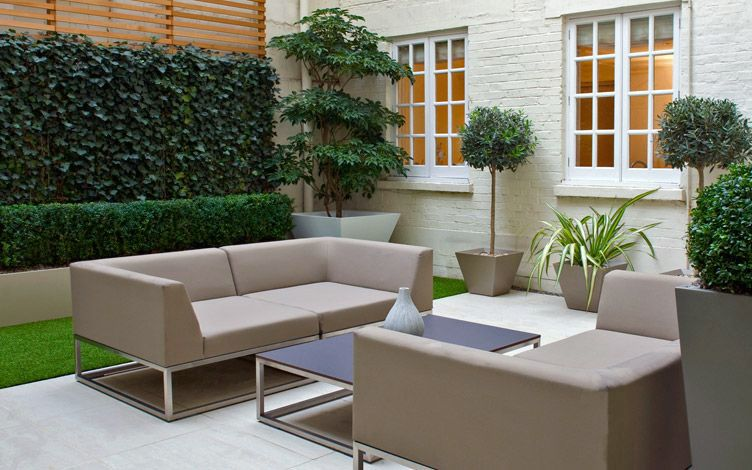 modern small patio garden project london outdoor lifestyle