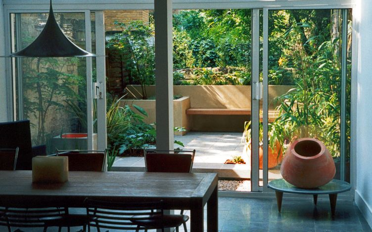 indoor outdoor minimalist garden
