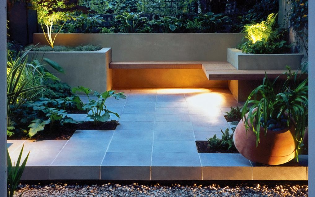 Minimalist garden design mylandscapes modern gardens london for Grid landscape design