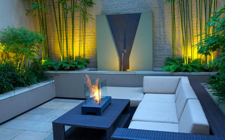 minimalist garden outdoor living design