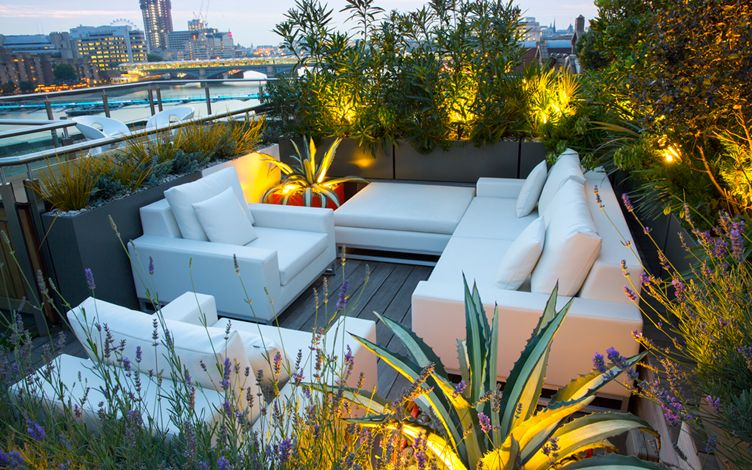 rooftop city terrace