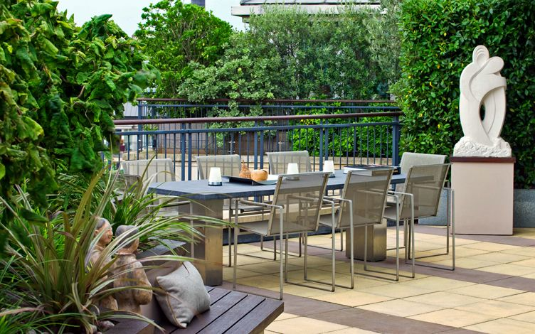 Small rooftop terrace design London | contemporary rooftop ...