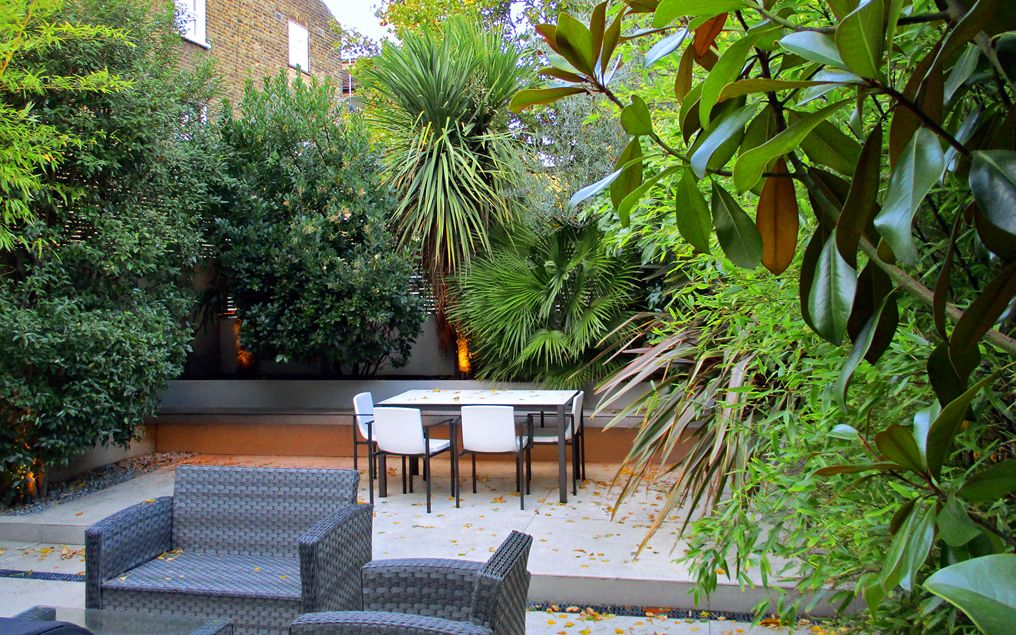 contemporary large town garden landscape design north london