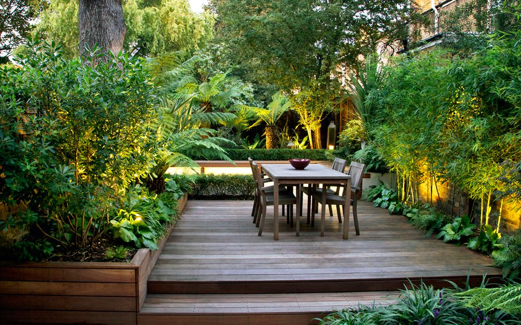 contemporary bamboo garden design